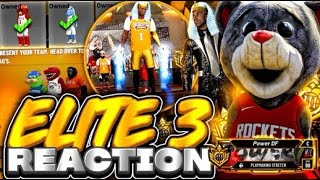 I HIT ELITE 3 & UNLOCKED MASCOTS + SUITS IN NBA 2K20! BEST BUILD ELITE 3 LIVE REACTION