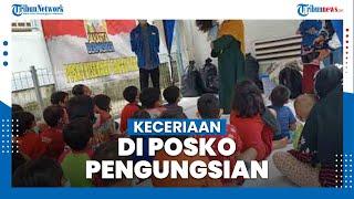 Keceriaan Anak-Anak Cipinang Melayu di Posko Pengungsian Banjir, Diajak Bernyanyi dan Berdongeng