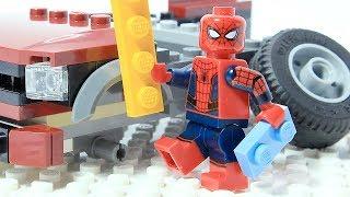 Spiderman Brick Building LEGO CAR Superhero Animation