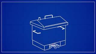Коптильня горячего копчения Дид Коптенко средняя из нержавейки (590x360x320) от компании В Доме - видео