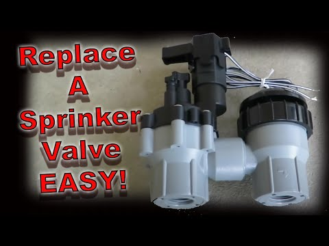 How to replace a sprinkler valve.