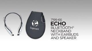 7199-66 Echo Bluetooth Neckband with Earbuds and Speaker