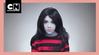 Como Fazer A Maquiagem Da Marceline | Estaca Zero | Cartoon Network