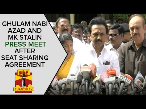 Ghulam-Nabi-Azad-and-MK-Stalin-Press-Meet-after-Seat-Sharing-Agreement-ThanthI-TV