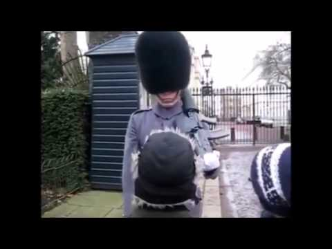 Angry queens guard soldier falls over compilation