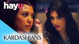 Kim & Kourtney Fight At Dinner | Keeping Up With The Kardashians