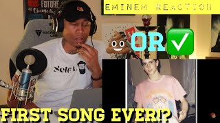 TRASH or PASS!! Eminem FIRST SONG EVER!!!! [REACTION]