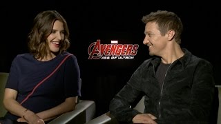 Cobie Smulders and Jeremy Renner on Marvel's Avengers: Age of Ultron