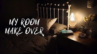 Small Bedroom Transformation, Dark Moody Walls With A DIY Light Fitting. 2019