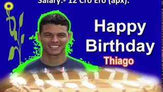 Brazilian Captain | Thiago Silva | Birthday Status | Wishes | Greetings | Soccer Player | Quotes