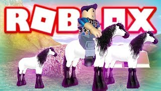 ROBLOX HORSE AND FOAL (HORSE WORLD)(Lets Play Wild Animals Roleplay)
