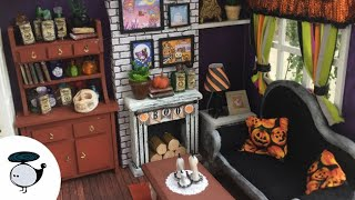 DIY Halloween Miniature Dollhouse (with working lights)