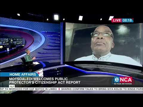 Motsoaledi welcomes Public Protector's report on Guptas' citizenship