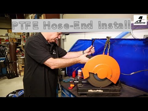 PTFE Hose end install on PTFE Hose