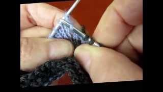 Прибавление петель  правым и левым поднятием  The lifted increase stitch