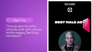 ☁️BTS Voting Tutorial - Swiss Music Awards