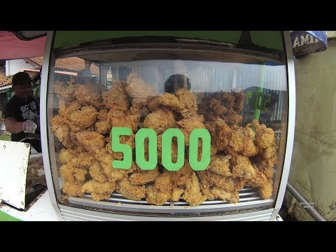 Indonesia Sumedang Street Food 2390 Less than 37 Cents USD Fried Chicken YDXJ0333
