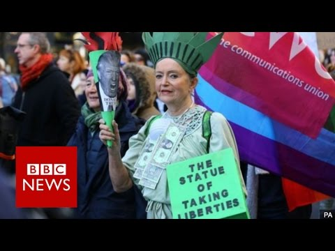 Donald Trump protests: Washington leads global rallies - BBC News