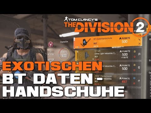 The Division 2 Exo BTSU Handschuhe / Exotische BT Datenhandschuhe