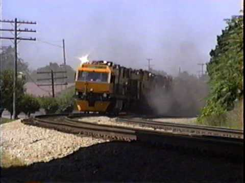 LORAM RAIL GRINDER. To Close! OUCH!!