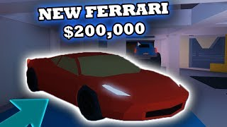 BUYING THE NEW FERRARI IN ROBLOX JAILBREAK (LOCATION)