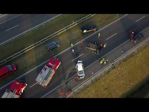 Wideo1: Wypadek na S5 w okolicach węzła Święciechowa
