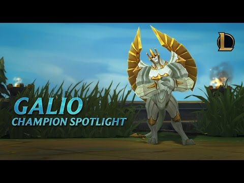 Galio Champion Spotlight | Gameplay – League of Legends