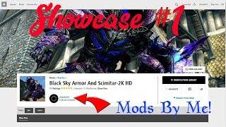 🔴 Skyrim Mod Showcase #1 NEW BLACK SKY ARMOR & CUSTOM VOICED CHARACTER! -  XBOX/PC Mods 2018