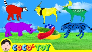 Colors for children to learn, red, blue, yellow, green, purple, animals animationㅣCoCosToy