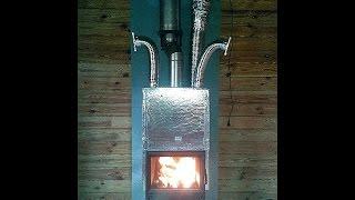 Камін з повітряним опаленням в дерев'яному будинку