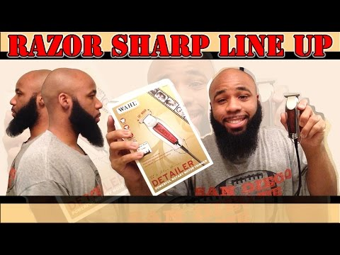 How To Line Up Your Beard   Wahl Detailer   Razor Sharp Trimmers