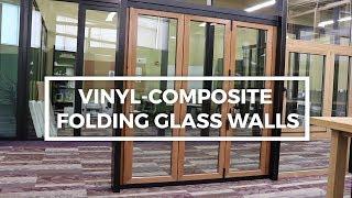 Vinyl-Composite Folding Glass Wall I Operation Demonstration I Solar Innovations
