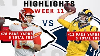 Mahomes vs. Goff DUEL - 891 Passing Yards & 11 Total TDs Combined!!!