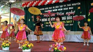 Cô giáo về bản - Múa hát chào mừng 20/11 các bé trường mầm non Hoa Mai