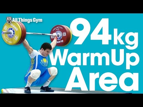94kg Warm Up Area 2015 World Weightlifting Championships