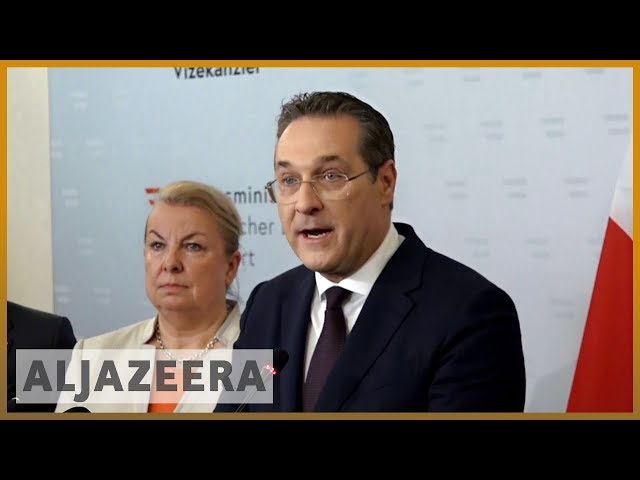 ???????? Austrian far-right leader quits over sting, coalition teeters | Al Jazeera English