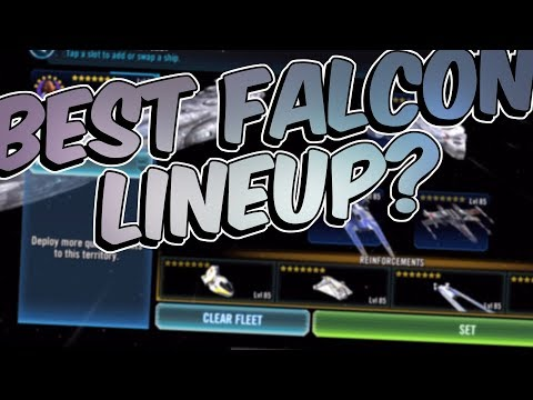 Best Millennium Falcon Lineup | No Hounds Tooth?! | Star Wars: Galaxy of Heroes