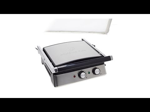 , Wolfgang Puck 6-in-1 Reversible Contact Grill and Griddle w/Recipes