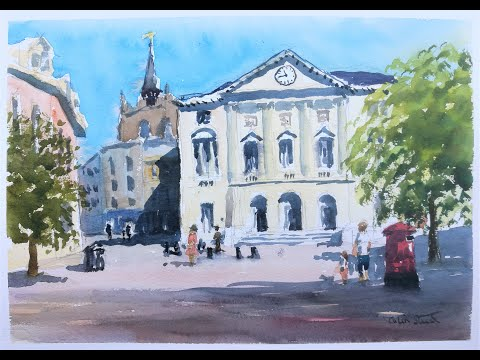 Thumbnail of 'Shire Hall, Chelmsford City'. (watercolour demonstration)