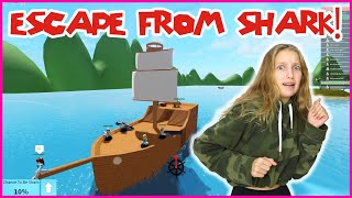 Escaping The Shark on a Pirate Ship!!!