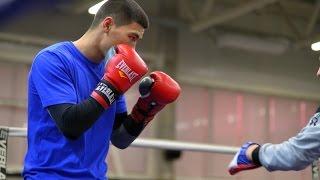 Открытая тренировка боксера Дмитрия Бивола