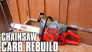 HOW-TO Chainsaw Carburetor Rebuild - Jonsered 2071
