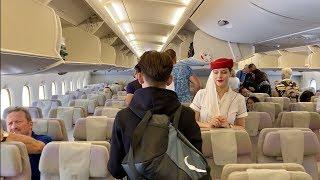 Emirates Airbus A380   Dubai To Amsterdam (Economy Class)