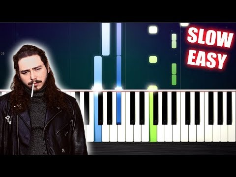 Post Malone - Better Now - SLOW EASY Piano Tutorial by PlutaX