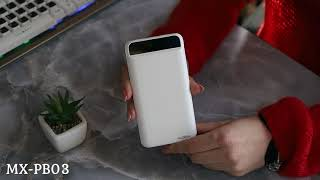 АКБ PowerBank MOXOM MX-PB03 (10000 mAh) белый