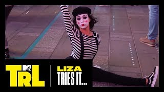 Liza Koshy Tries Miming in Times Square | TRL