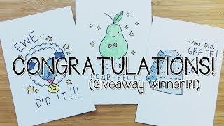 6 DIY Congratulations PUNS cards! | Doodle with Me