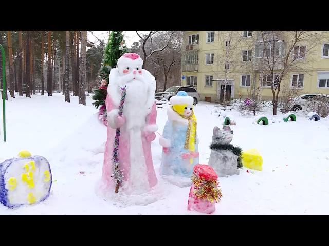 Новогодние хлопоты в ангарских дворах