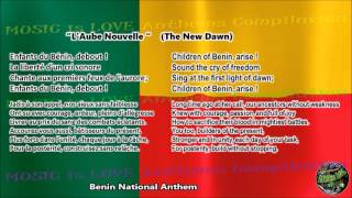 "Benin National Anthem ""L'Aube Nouvelle"" with music, vocal and lyrics French w/English Translation"
