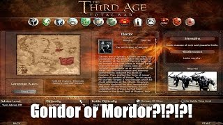 The Third Age: Total War - Faction selection